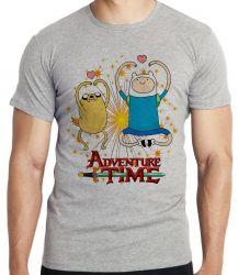 Camiseta Infantil  Adventure Time Jake Finn corações