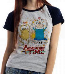 Blusa Feminina  Adventure Time Jake Finn corações