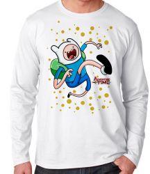 Camiseta Manga Longa  Adventure Time Jake