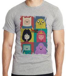 Camiseta Infantil  Adventure Time moldura