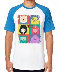 Camiseta Raglan Adventure Time moldura