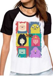 Blusa Feminina  Adventure Time moldura