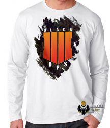 Camiseta Manga Longa Call of Duty  Black Ops