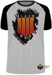 Camiseta Raglan Call of Duty  Black Ops