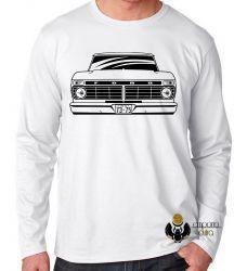 Camiseta Manga Longa Camioneta Ford antiga