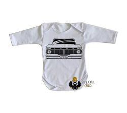 Roupa Bebê manga longa Camioneta Ford antiga