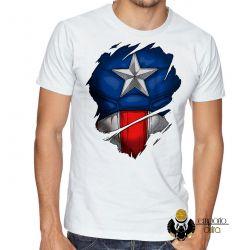 Camiseta  Capitão América  disfarce