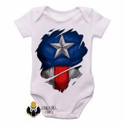 Roupa  Bebê  Capitão América  disfarce