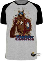 Camiseta Raglan Capitão Cavérica