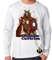Camiseta Manga Longa  Capitão Cavérica