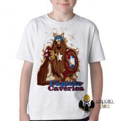 Camiseta Infantil   Capitão Cavérica