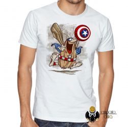 Camiseta  Capitão Cavérica escudo