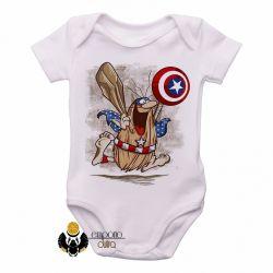Roupa  Bebê  Capitão Cavérica escudo