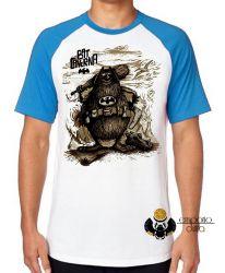 Camiseta Raglan Capitão Bat Caverna