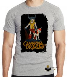 Camiseta Infantil Dungeons e Dragons caverna do dragão Hank Uni