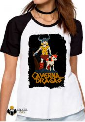 Blusa Feminina Dungeons e Dragons caverna do dragão Hank Uni