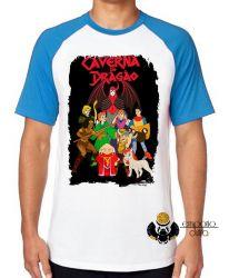 Camiseta Raglan Dungeons e Dragons caverna do dragão todos