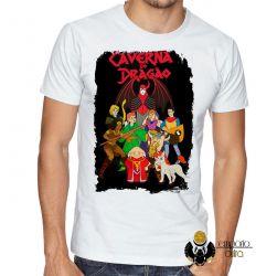 Camiseta Dungeons e Dragons caverna do dragão todos