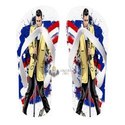 Chinelo Elvis Presley bandeira EUA