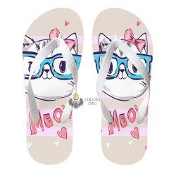 Chinelo Gato óculos meow