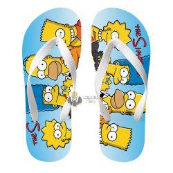 Chinelo Simpsons unidos família