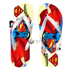 Chinelo Superman desenho capa céus