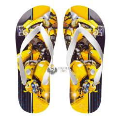 Chinelo Transformers Bumblebee fusca