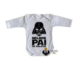 Roupa Bebê manga longa   Darth Vader melhor pai