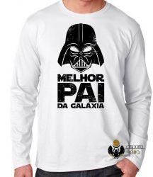 Camiseta Manga Longa Darth Vader melhor pai