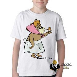 Camiseta Infantil  Hanna Barbera Dona Ursa