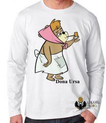 Camiseta Manga Longa Hanna Barbera Dona Ursa