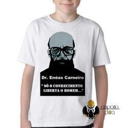 Camiseta Infantil  Enéas Carneiro direita conhecimento