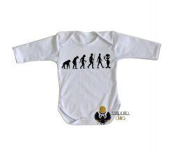 Roupa Bebê manga longa Evolução Alien