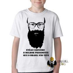 Camiseta Infantil  Enéas Carneiro melhor presidente