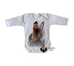 Roupa Bebê manga longa Jesus de Nazaré