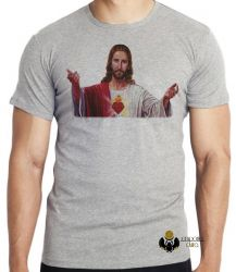 Camiseta Infantil Jesus Cristo coração