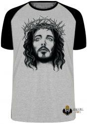 Camiseta Raglan Jesus coroa espinhos