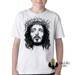 Camiseta Infantil Jesus coroa espinhos