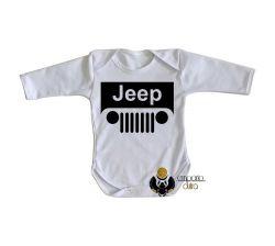 Roupa Bebê manga longa Jeep off road