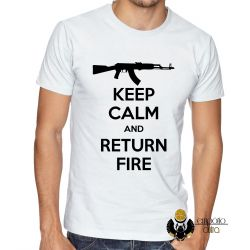 Camiseta  Keep Calm Return Fire