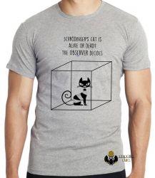 Camiseta Infantil Gato de Schrödinger