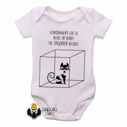 Roupa  Bebê Gato de Schrödinger