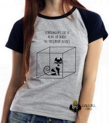 Blusa Feminina Gato de Schrödinger