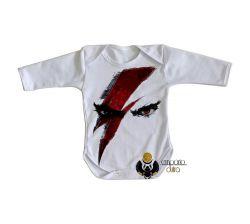 Roupa Bebê manga longa God of War Kratos
