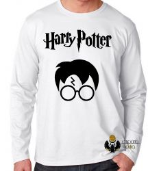 Camiseta Manga Longa Harry Potter cicatriz
