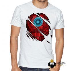 Camiseta Homem de Ferro  reator armadura