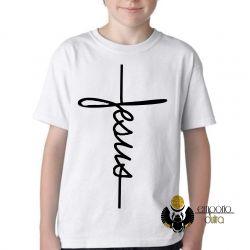 Camiseta Infantil Jesus Cristo crucifixo