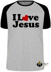 Camiseta Raglan Love Jesus
