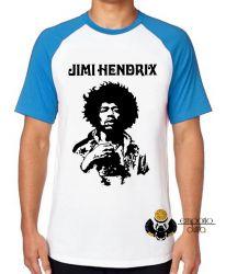 Camiseta Raglan Jimi Hendrix  Woodstock