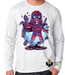 Camiseta Manga Longa X Men Mini Magneto
